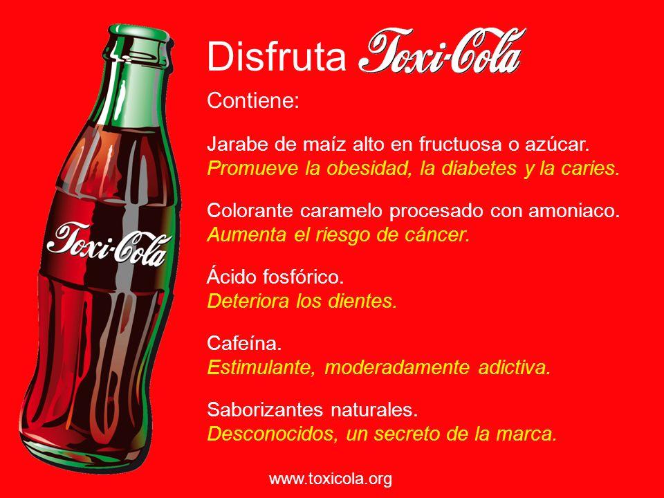 Si 10 cucharaditas de azúcar* en una lata de Coca Cola no te ha parecido una razón suficiente para dejarla de beber, ¿qué te parece que contenga un ingrediente cancerígeno.