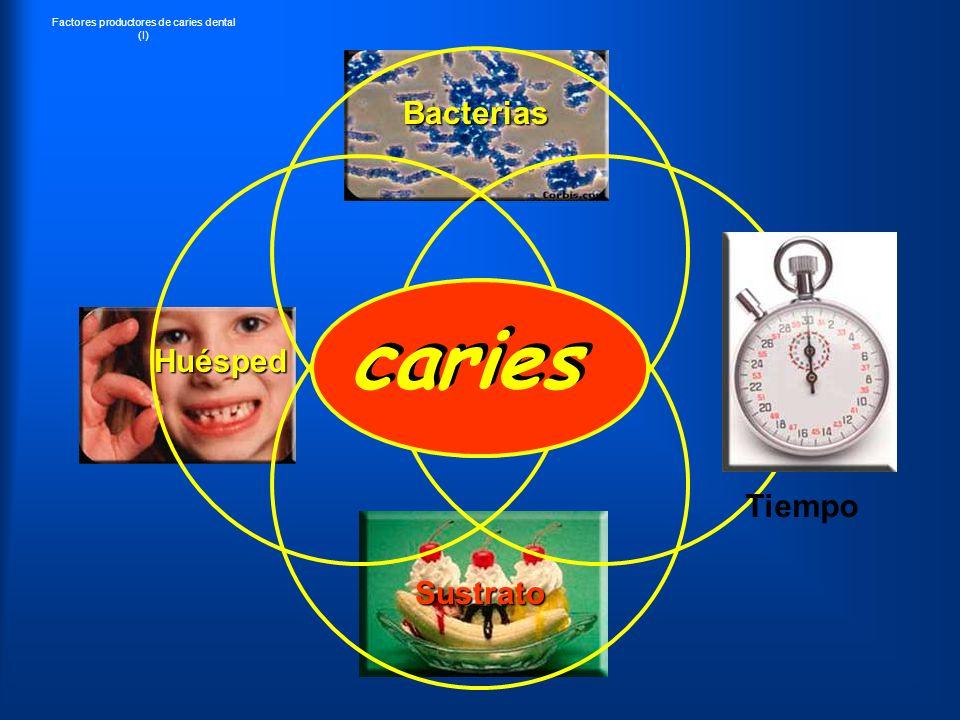 caries Bacterias Huésped Tiempo Sustrato Factores productores de caries dental (I)