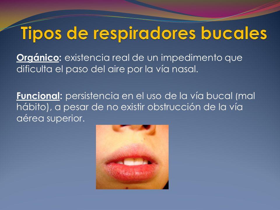 Orgánico: existencia real de un impedimento que dificulta el paso del aire por la vía nasal.