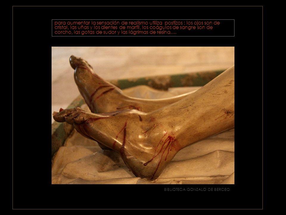 BIBLIOTECA GONZALO DE BERCEO El contraste emocional se enfatiza en el naturalismo terrible de las llagas de manos y pies