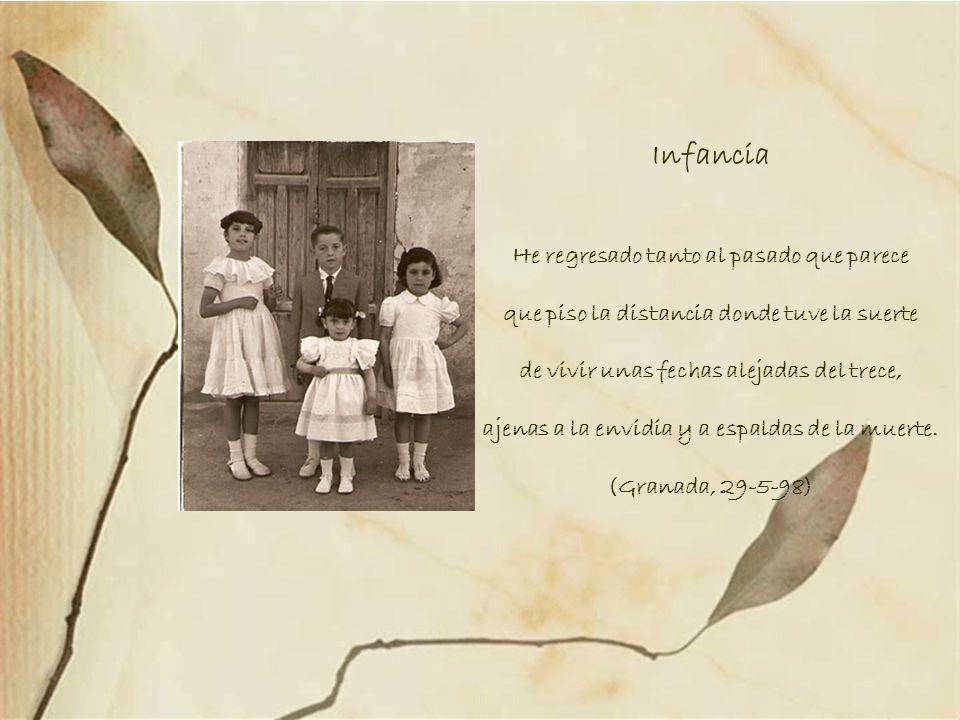 Égloga del otoño en Granada (fragmento) A Maribel que comparte conmigo la invención de la vida en la ciudad de la muerte. YO Nos asomamos al otoño env