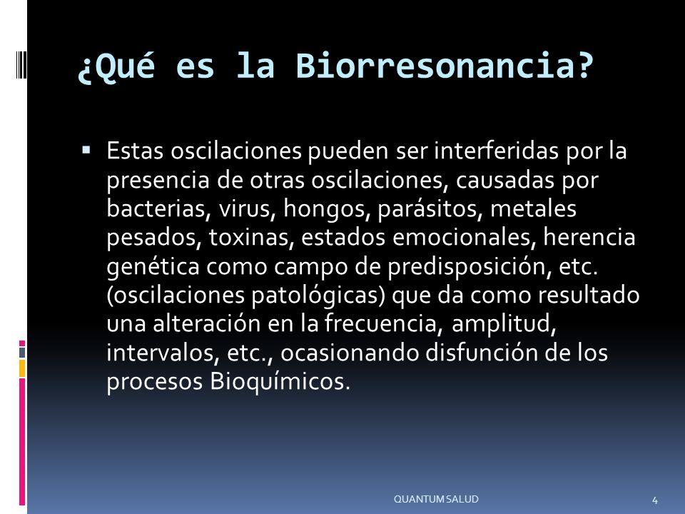 ¿Qué es la Biorresonancia.