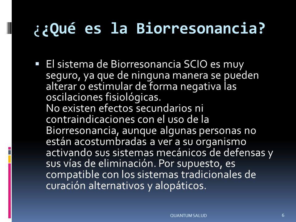 ¿¿Qué es la Biorresonancia.