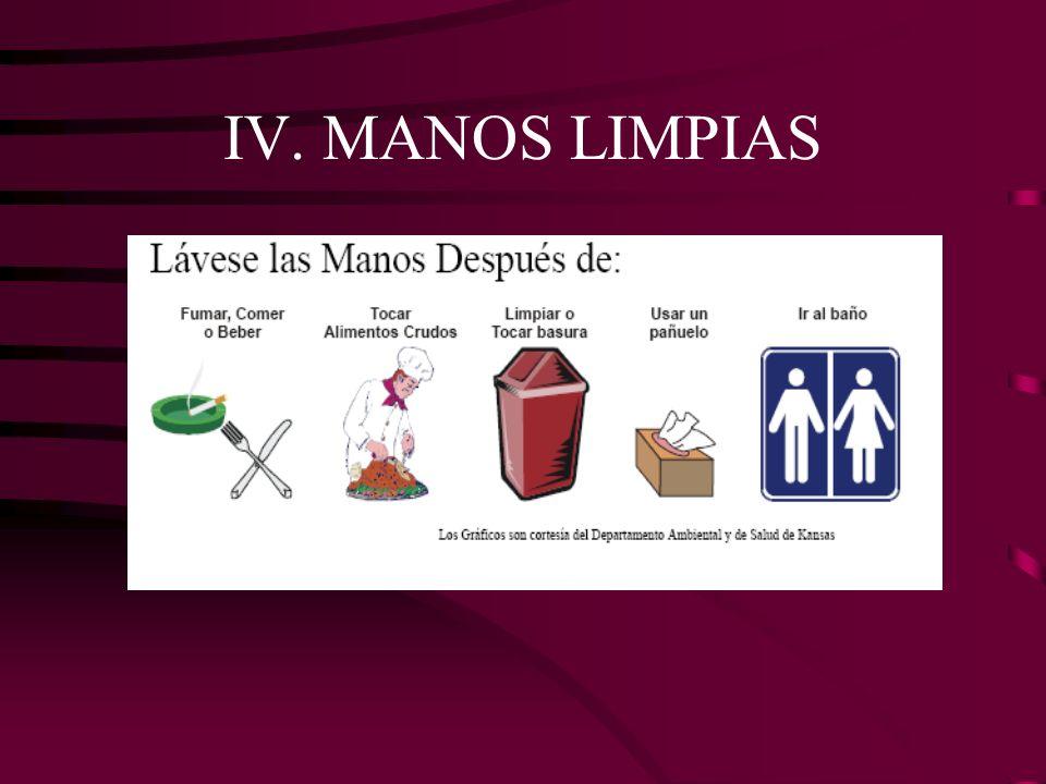 IV. MANOS LIMPIAS
