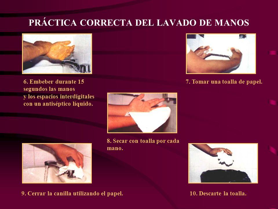 PRÁCTICA CORRECTA DEL LAVADO DE MANOS 6.