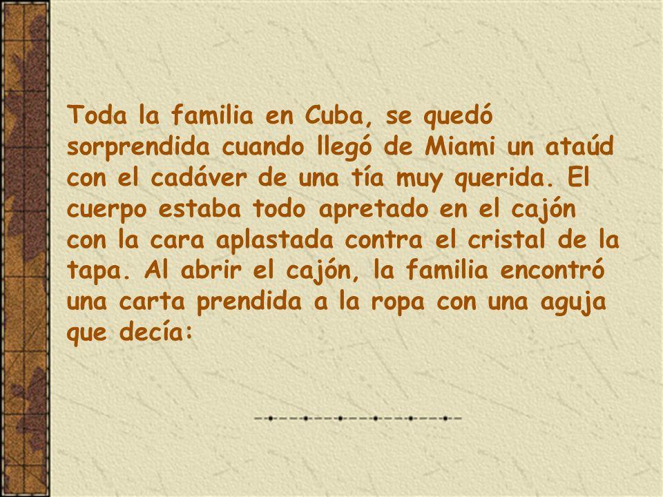 ENTIERRO A LA CUBANA