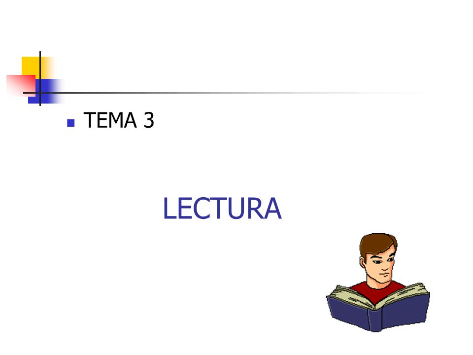 CONSEJOS La lectura es la principal herramienta del estudiante para aprender y avanzar en cada curso.