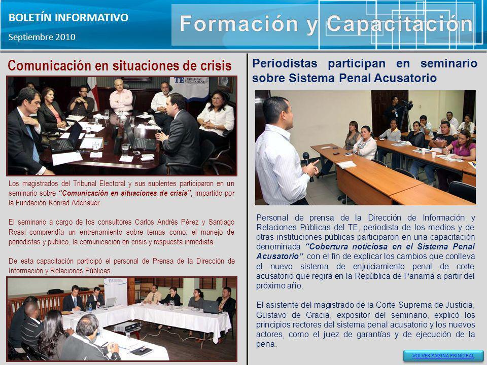 Los magistrados del Tribunal Electoral y sus suplentes participaron en un seminario sobre Comunicación en situaciones de crisis, impartido por la Fund