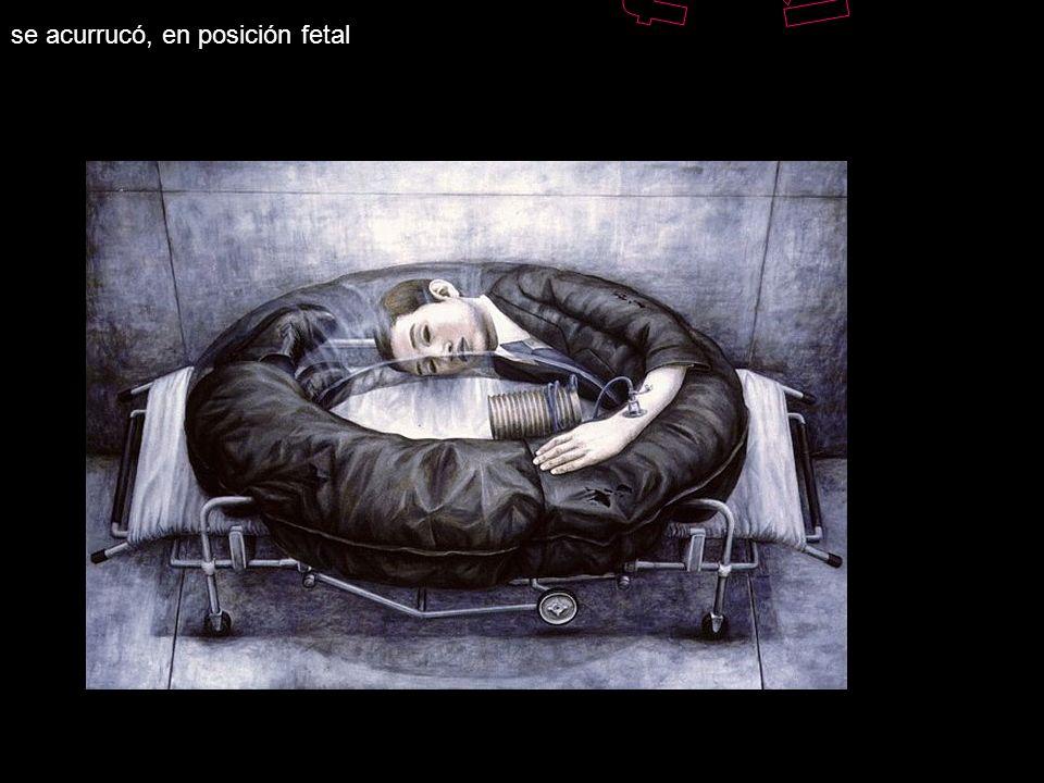 Sintió el dolor penetrante, en su globo ocular, Se vió en el espejo en plena metamorfosis, Se tumbó en la cama
