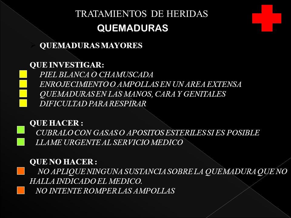 TRATAMIENTOS DE HERIDAS QUEMADURAS