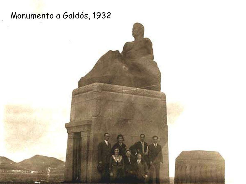 Muelle y monumento a Galdós, 1925-1930