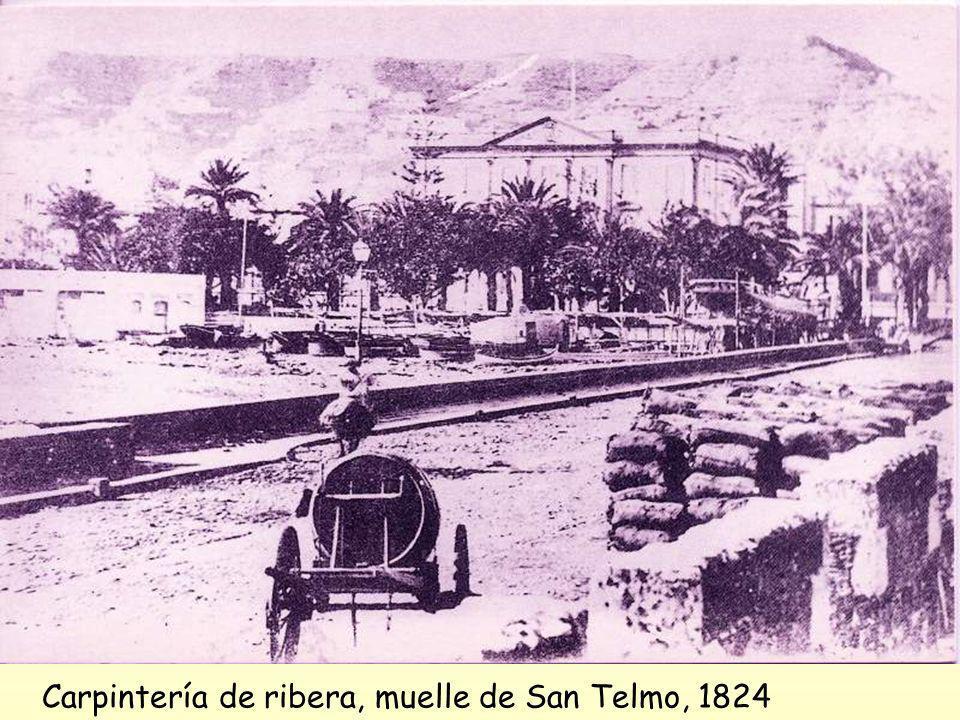 Por los años 50 del XIX éste era el único muelle de la ciudad que, desde 1811, se venía construyendo.................en 1852, por Real Orden fue decla