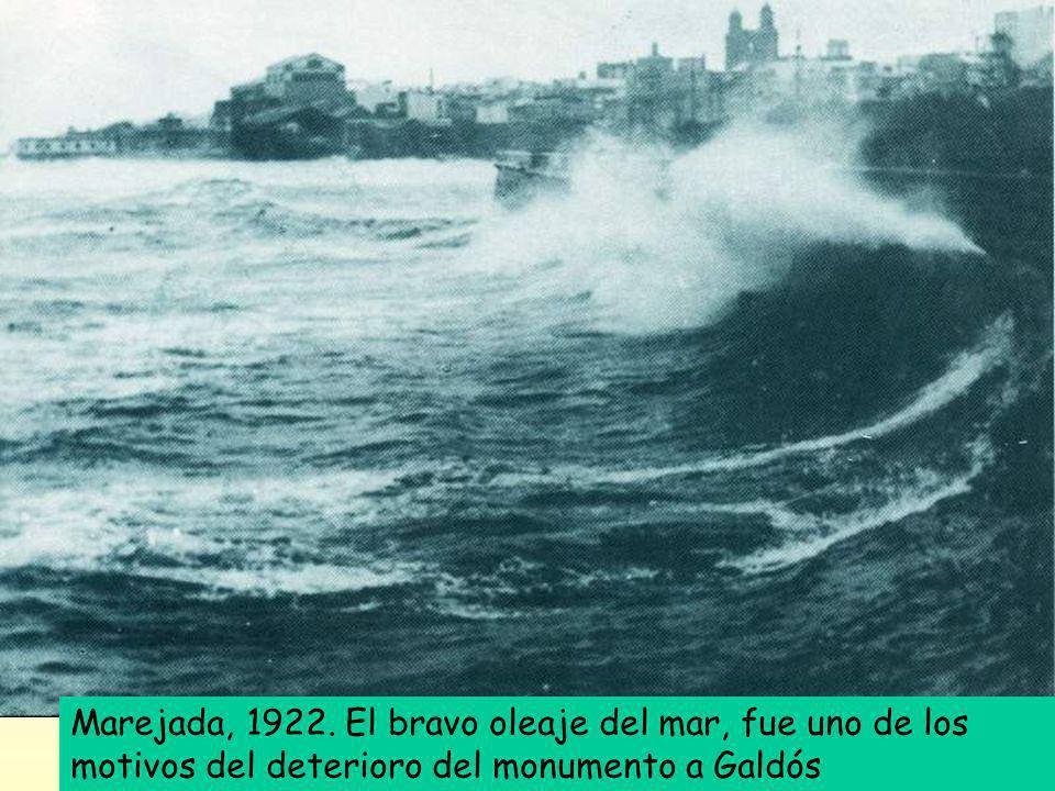 Tan sólo veinte años después, la efigie había perdido su antigua configuración. El bravo oleaje del mar y otras incidencias climatológicas fueron dete