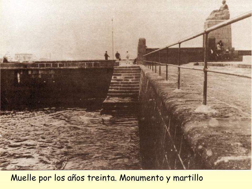 Muelle, visto desde el monumento a Galdós 1925