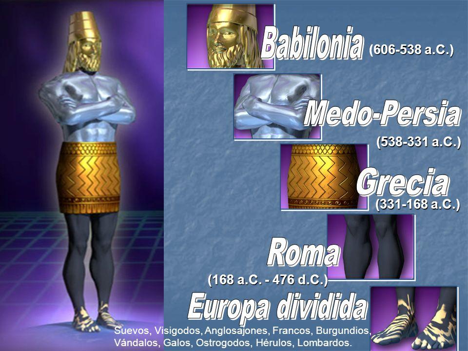 606-538 a.C.) (606-538 a.C.) (538-331 a.C.) (331-168 a.C.) (168 a.C. - 476 d.C.) Suevos, Visigodos, Anglosajones, Francos, Burgundios, Vándalos, Galos
