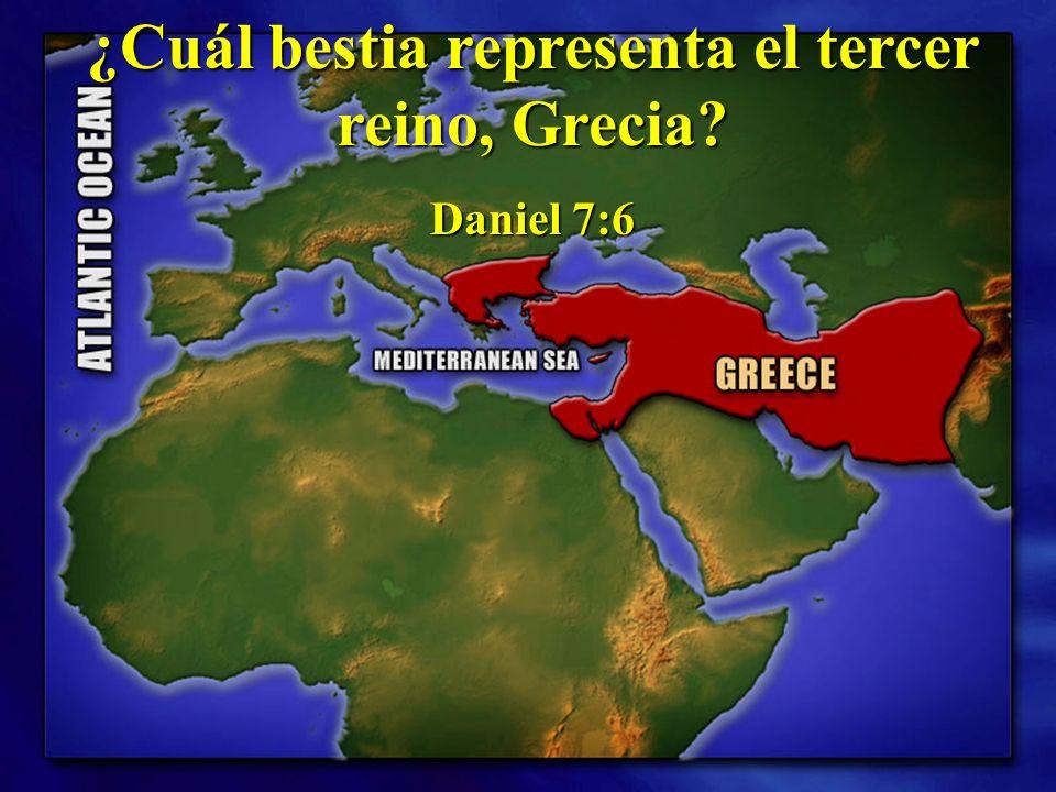 ¿Cuál bestia representa el tercer reino, Grecia? Daniel 7:6