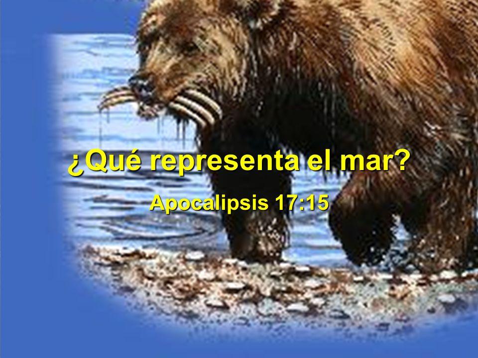 ¿Qué representa el mar? Apocalipsis 17:15