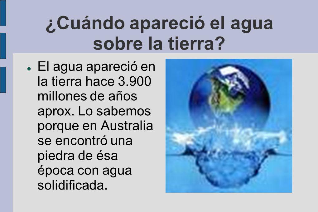 ¿Cuáles son los estados del agua?