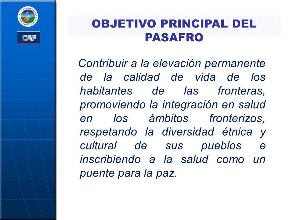 OBJETIVOS ESPECÍFICOS OE1.Desarrollar el diagnóstico de la situación de salud en las fronteras.