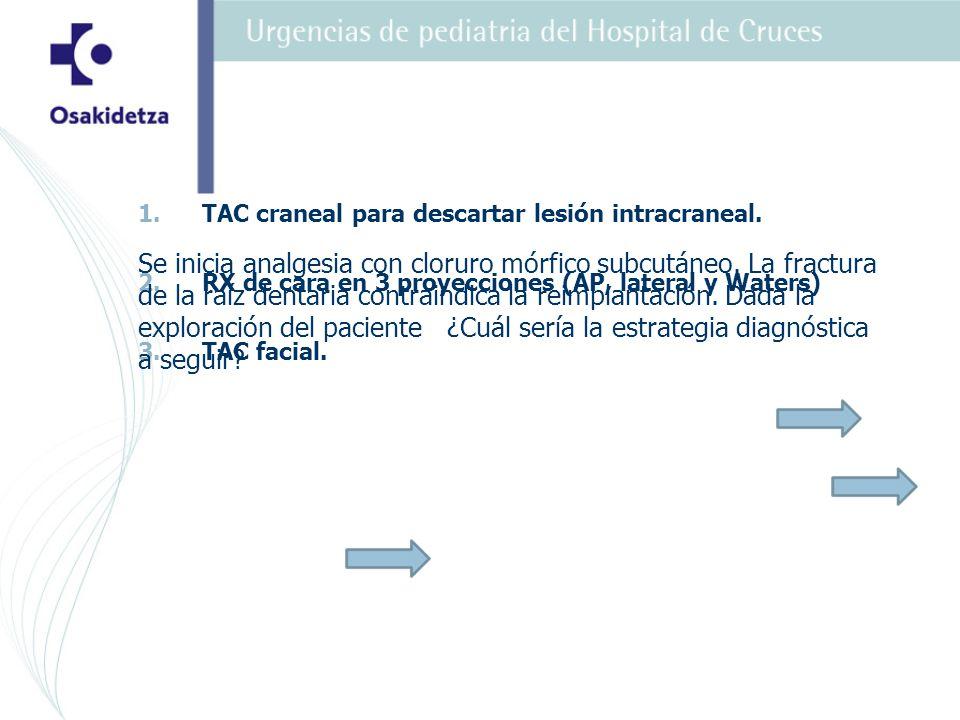 1.1.TAC craneal para descartar lesión intracraneal.
