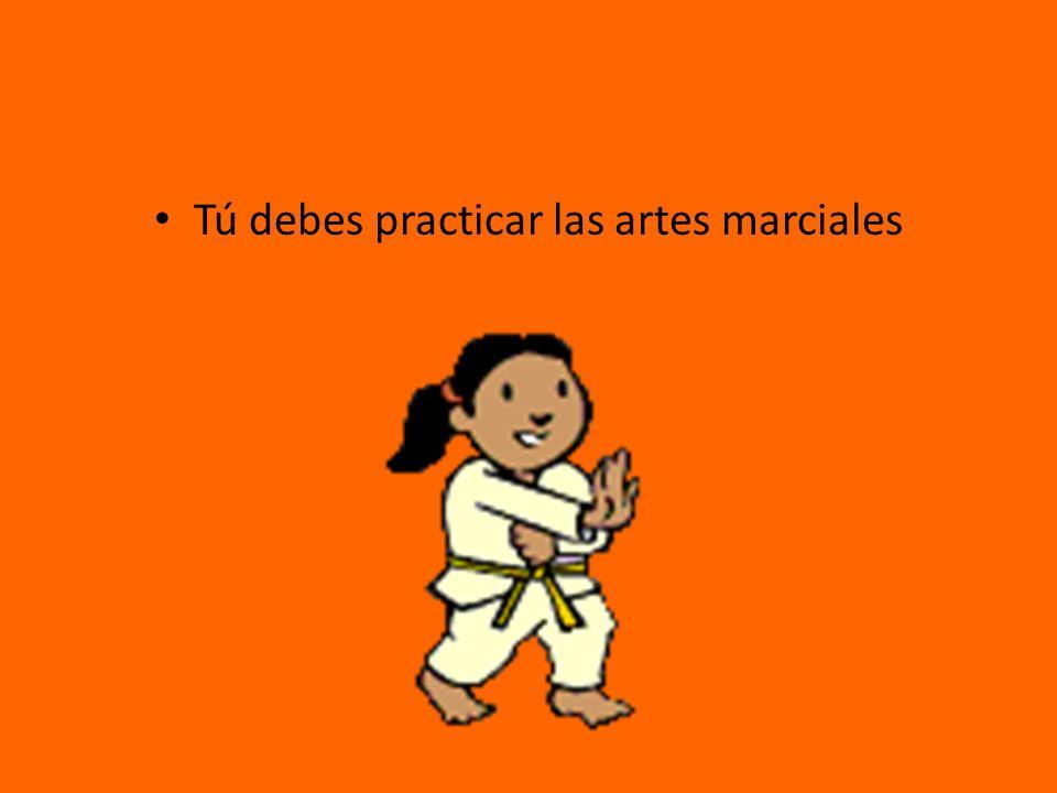 Tú debes practicar las artes marciales
