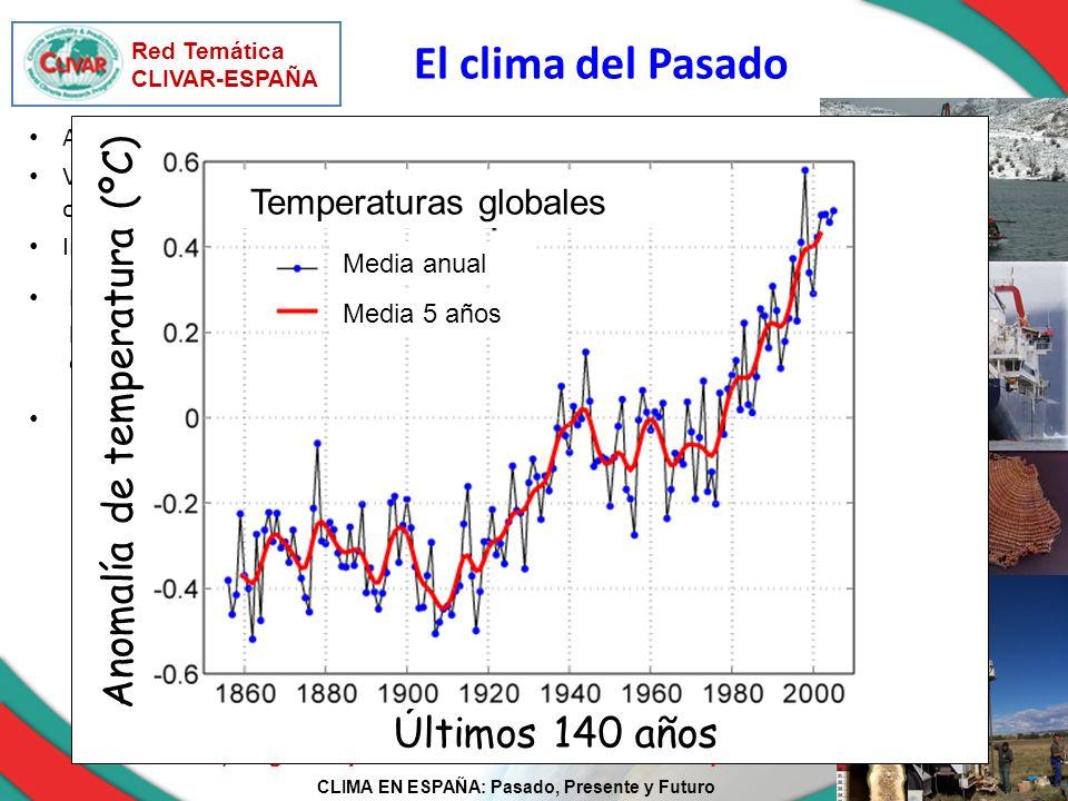 CLIMA EN ESPAÑA: Pasado, Presente y Futuro Red Temática CLIVAR-ESPAÑA El clima del Pasado Recopilación y evaluación exhaustiva de los registros paleoc