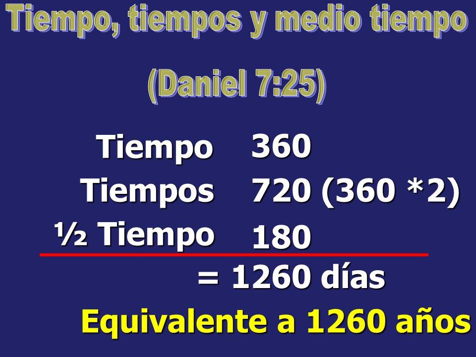 En profecía bíblica, un tiempo es igual a un año judío de 360 días. Ezequiel 4:6 Números 14:34