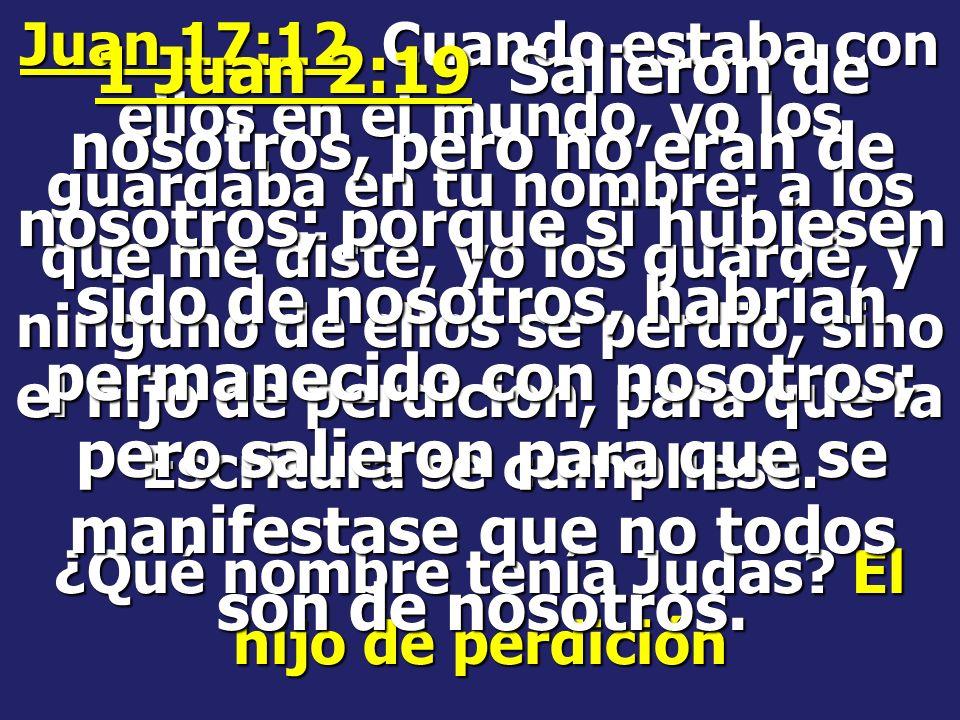 Apostasía viene de la palabra griega: Apostenia Y dice, sin que antes venga la apostasía, y se manifieste el hombre de pecado, el hijo de perdición ¿C