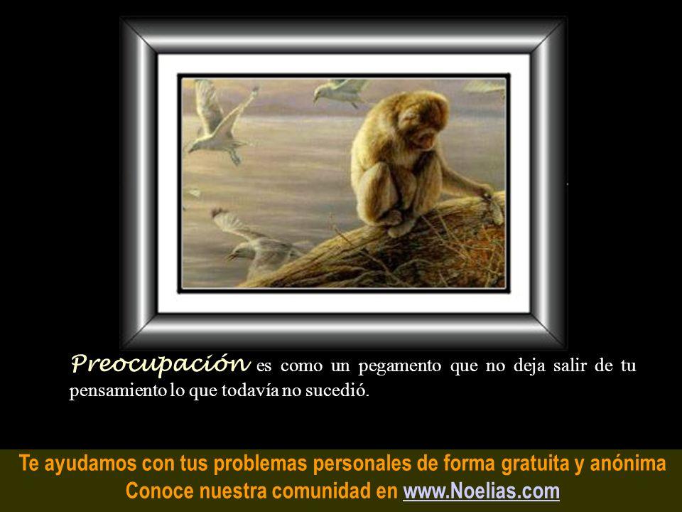 Te ayudamos con tus problemas personales de forma gratuita y anónima Conoce nuestra comunidad en www.Noelias.comwww.Noelias.com Angustia es un nudo mu