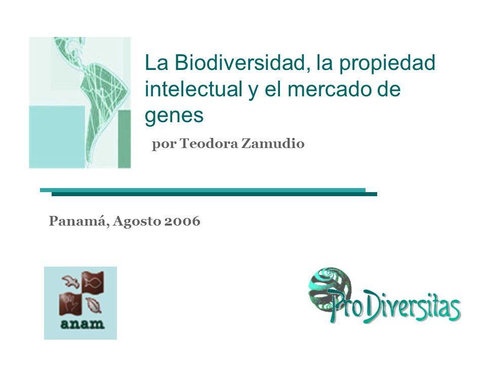 La Biodiversidad, la propiedad intelectual y el mercado de genes por Teodora Zamudio Panamá, Agosto 2006