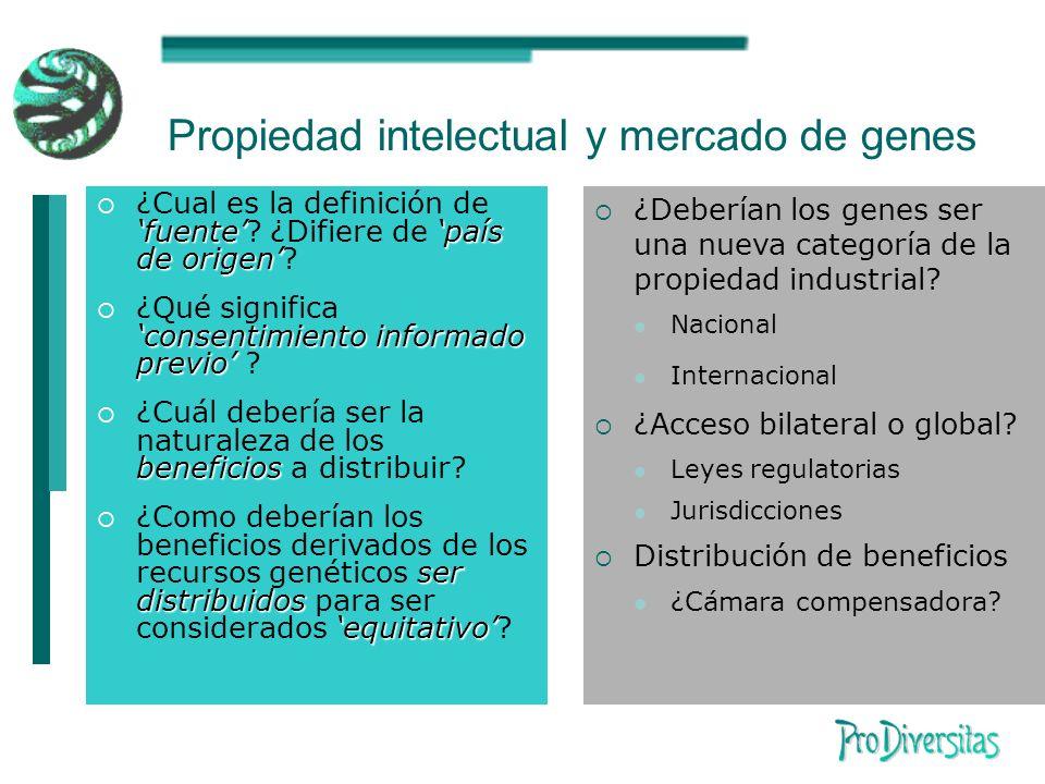 Propiedad intelectual y mercado de genes fuentepaís de origen ¿Cual es la definición de fuente.