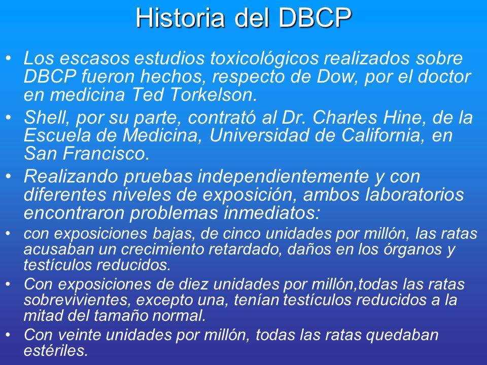 Historia del DBCP En un informe confidencial de Abril de 1958, el Dr.