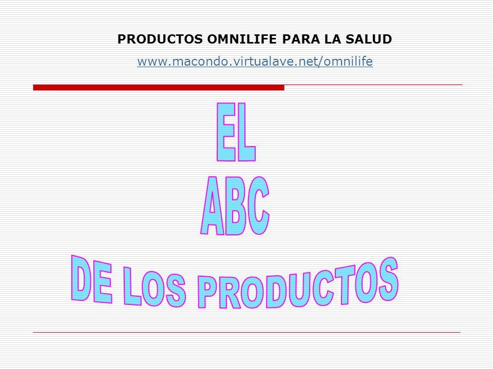PRODUCTOS OMNILIFE PARA LA SALUD www.macondo.virtualave.net/omnilife