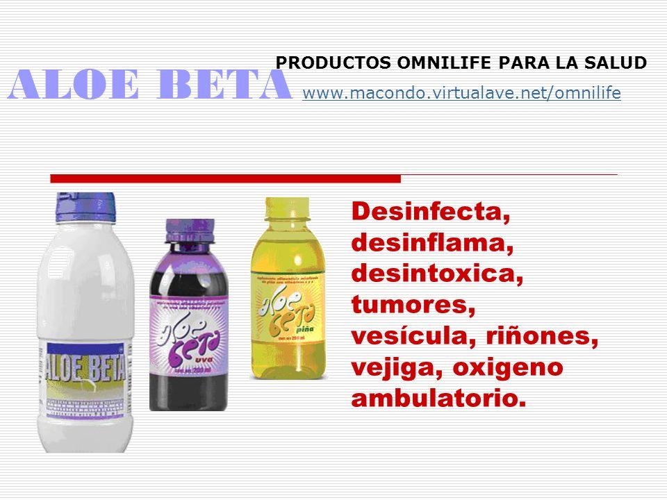 AGUA BLU AGUA VIVA Antitumoral, antiinflamatorio Dientes, huesos Agua viva, mezclar productos PRODUCTOS OMNILIFE PARA LA SALUD www.macondo.virtualave.