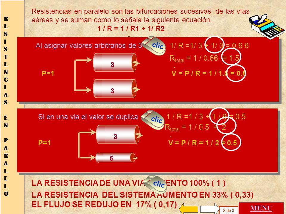 LA RESISTENCIA DE UNA VIA AUMENTO 100% ( 1 ) Las resistencias pueden asociarse de distinta manera causando diferentes modificaciones en el flujo. Un e