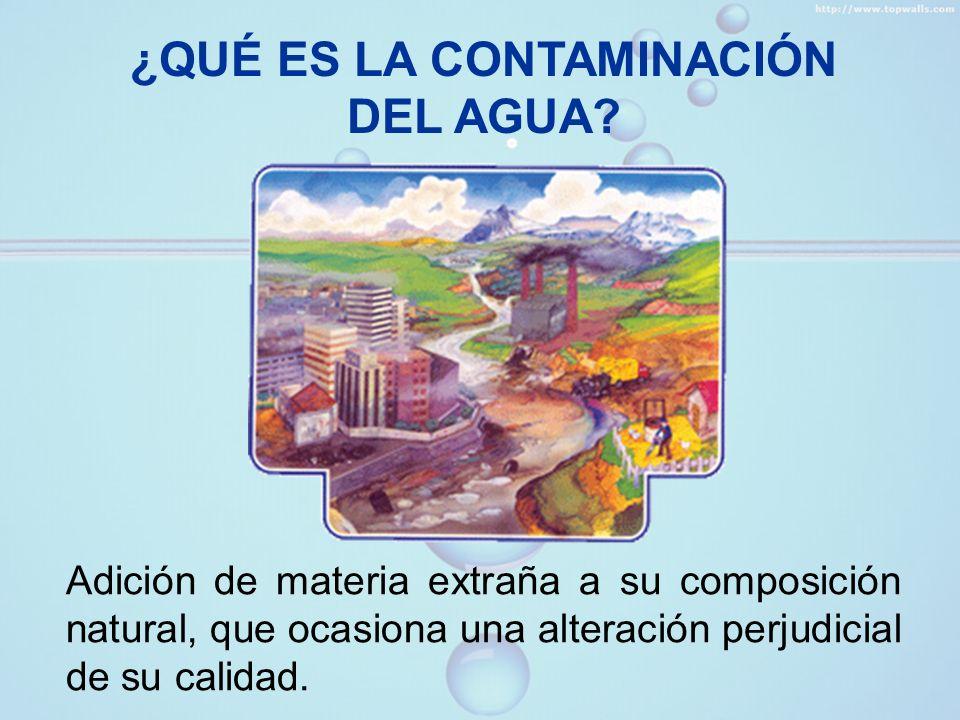 FUENTES DE CONTAMINACIÓN DEL AGUA Doméstica Agrícola Industrial Petróleo