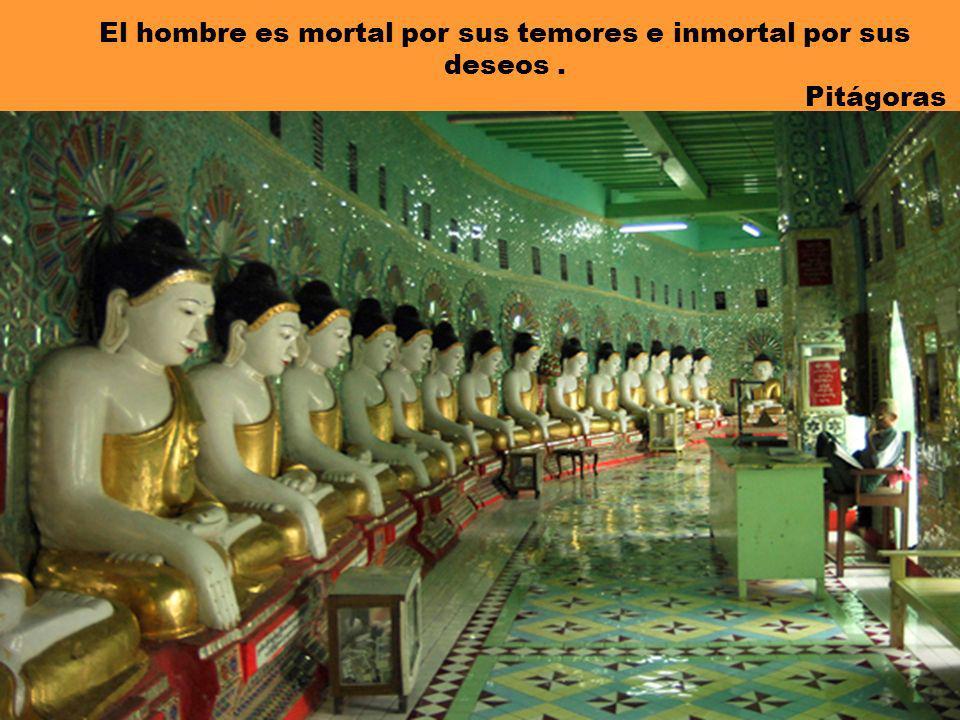 El hombre es mortal por sus temores e inmortal por sus deseos. Pitágoras