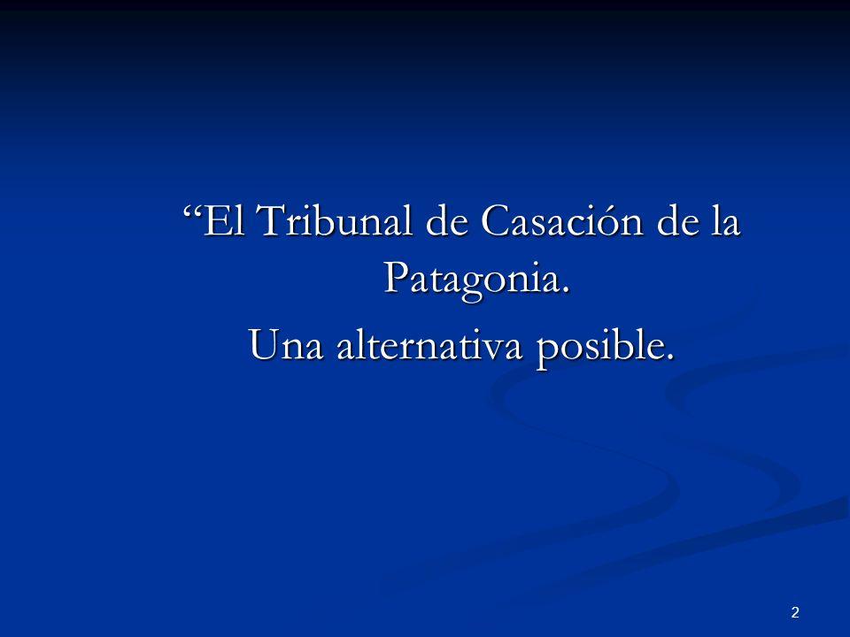 2 El Tribunal de Casación de la Patagonia. Una alternativa posible.