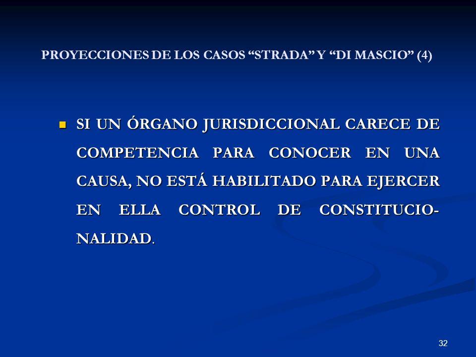 32 SI UN ÓRGANO JURISDICCIONAL CARECE DE COMPETENCIA PARA CONOCER EN UNA CAUSA, NO ESTÁ HABILITADO PARA EJERCER EN ELLA CONTROL DE CONSTITUCIO- NALIDA