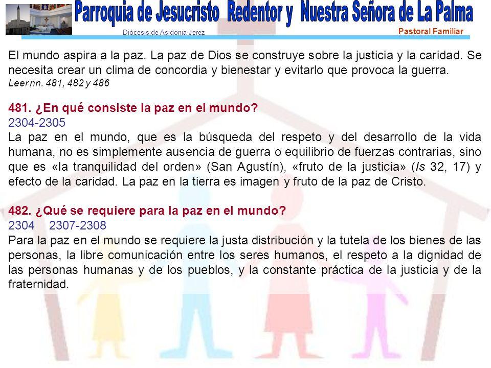 Diócesis de Asidonia-Jerez Pastoral Familiar El mundo aspira a la paz.