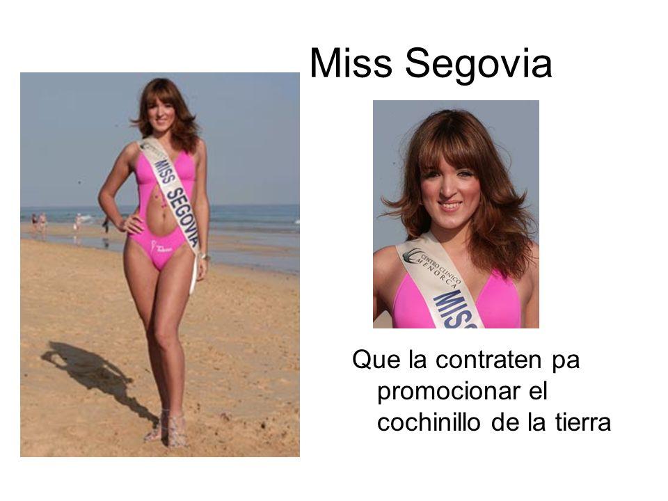 Miss Segovia Que la contraten pa promocionar el cochinillo de la tierra