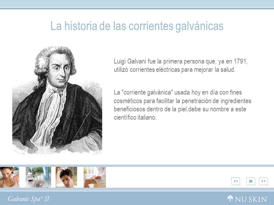 Luigi Galvani fue la primera persona que, ya en 1791, utilizó corrientes eléctricas para mejorar la salud.