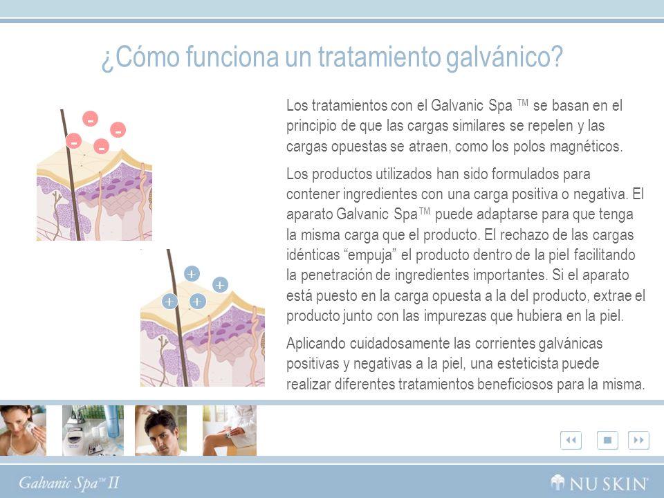 ¿Cómo funciona un tratamiento galvánico.