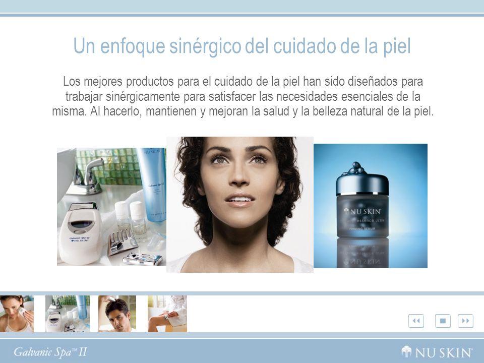 Un enfoque sinérgico del cuidado de la piel Los mejores productos para el cuidado de la piel han sido diseñados para trabajar sinérgicamente para satisfacer las necesidades esenciales de la misma.