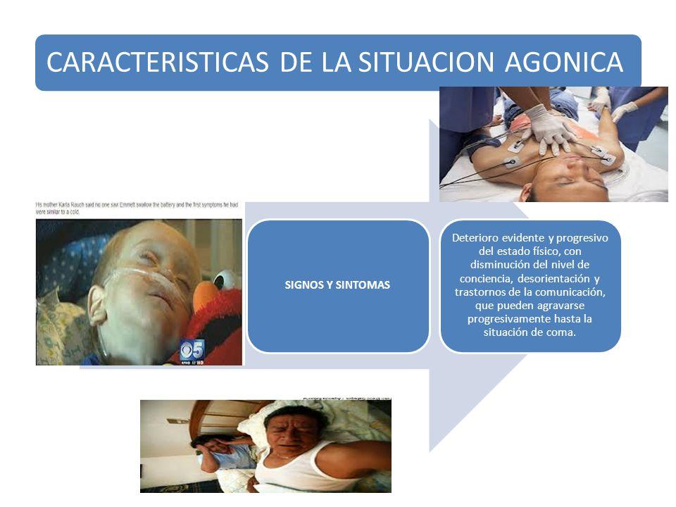 SIGNOS Y SINTOMAS - Dificultad o incapacidad de ingesta, provocada por la debilidad y la disminución del estado de conciencia.