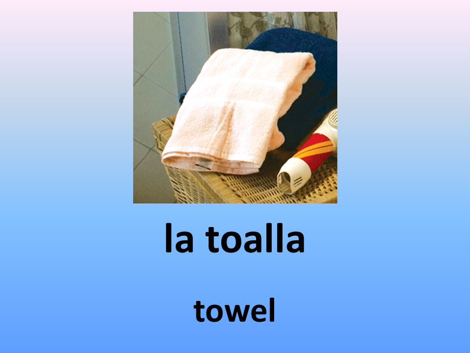 la toalla towel