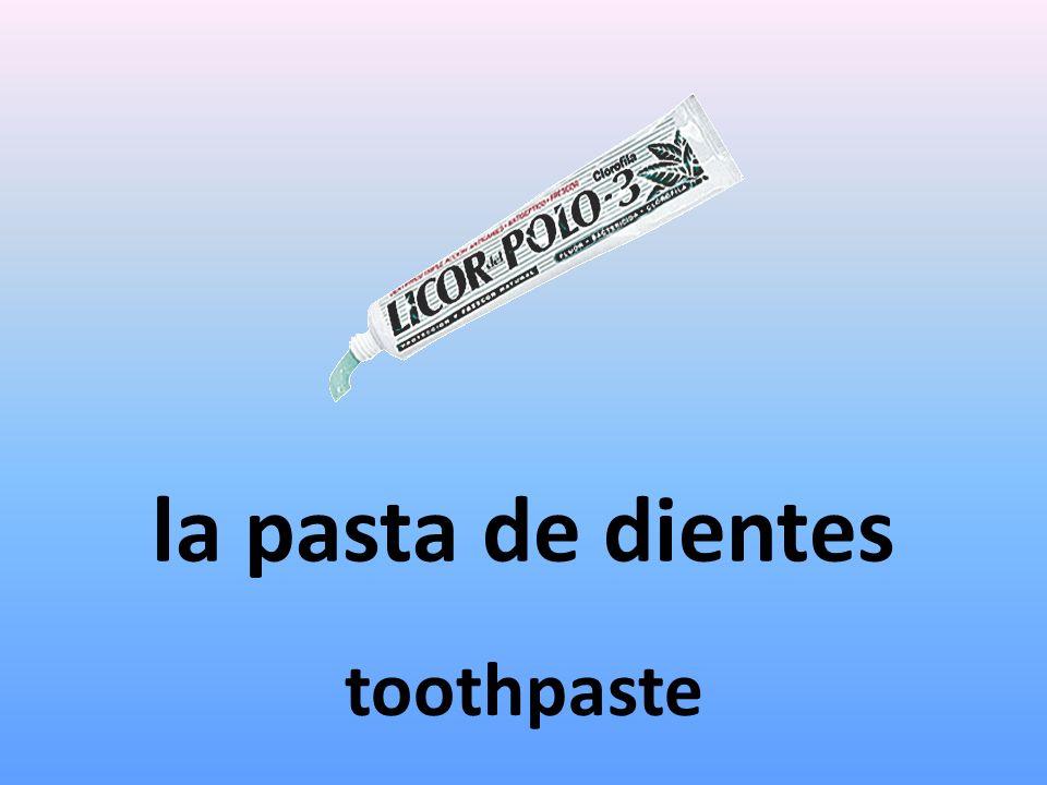 la pasta de dientes toothpaste