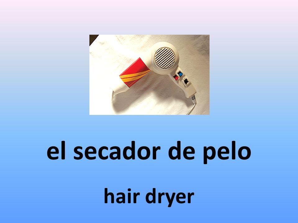 el secador de pelo hair dryer