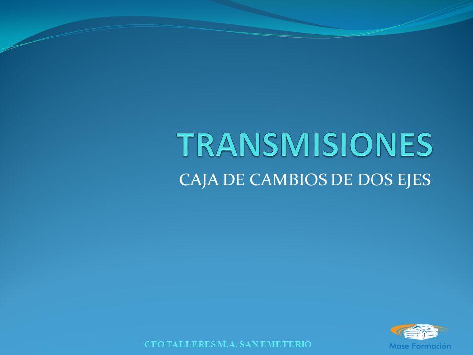 CFO TALLERES M.A. SAN EMETERIO CAJA DE CAMBIOS DE DOS EJES