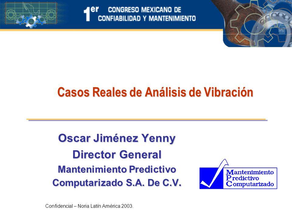 Casos Reales de Análisis de Vibración Oscar Jiménez Yenny Director General Mantenimiento Predictivo Computarizado S.A. De C.V. Confidencial – Noria La